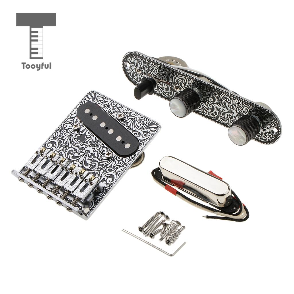 1 Set Loaded Prewired Control Plate Bridge Neck Bridge Pickups for Telecaster Tele Electric Guitar