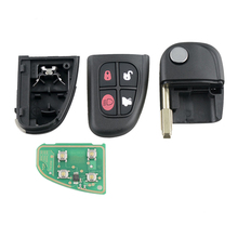 Dzanken 4 Buttons Remote Car Key 433MHz for Jaguar X type S type& Transponder Chip& Uncut Blade y scoo самокат maxi a 20 simple цв red