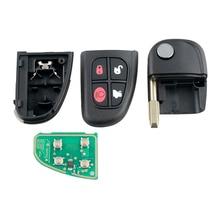 Dzanken 4 Buttons Remote Car Key 433MHz for Jaguar X type S type& Transponder Chip& Uncut Blade автокресло rant comix labirint blue