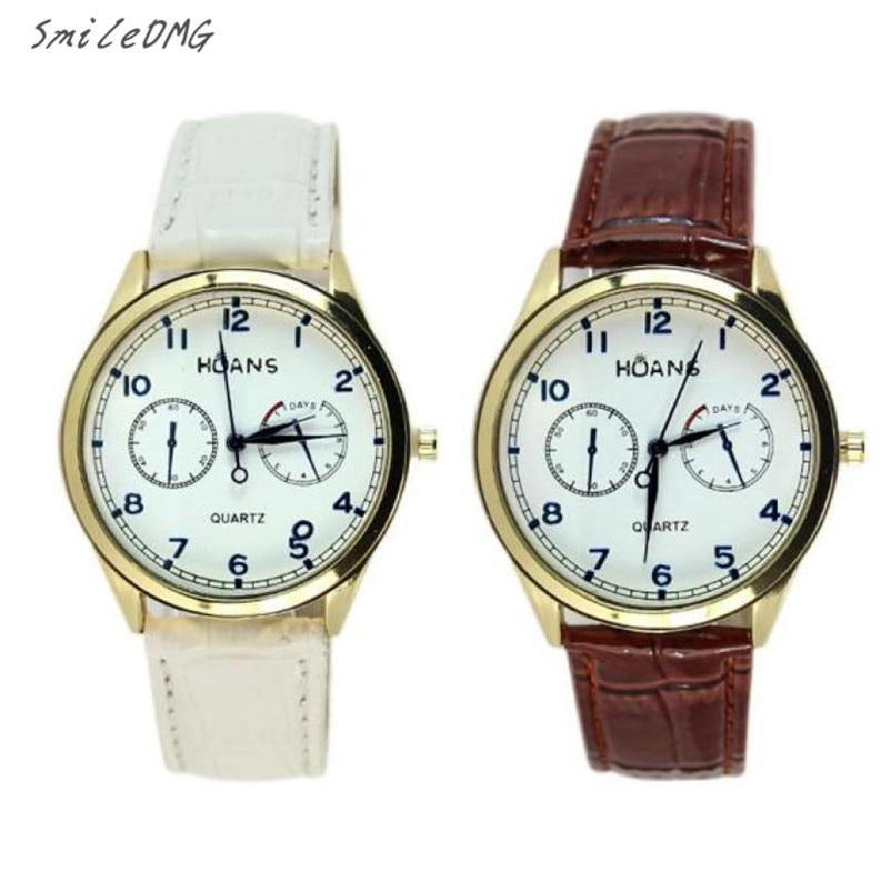٩(^‿^)۶Reloj caliente mujeres hombres moda Reloj análogo del negocio ...
