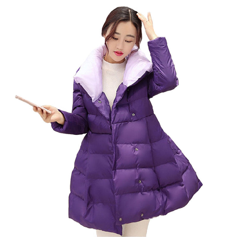 Luxury Parka Women 2017 New Brand Winter Womens Quilted Jacket Warm Down Cotton Padded Coat Long Wadded Jackets High Quality winter parka coat for women thick down cotton padded jacket women s elegant hooded jackets coats womens quilted coat warm xh832