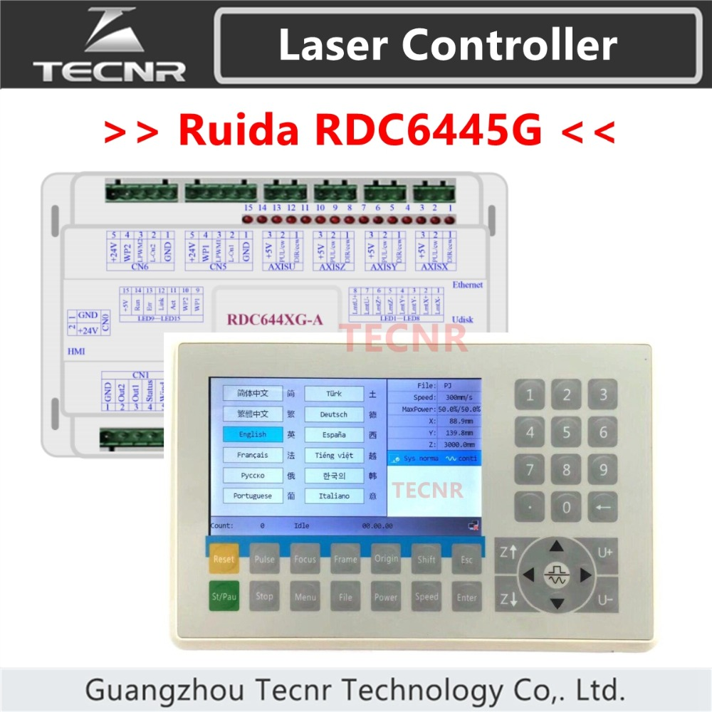 TECNR Ruida RDC6445 RDC6445G Laser Machine Controller For Co2 Laser Engraving Cutting Machine Upgrade RDC6442 RDC6442G