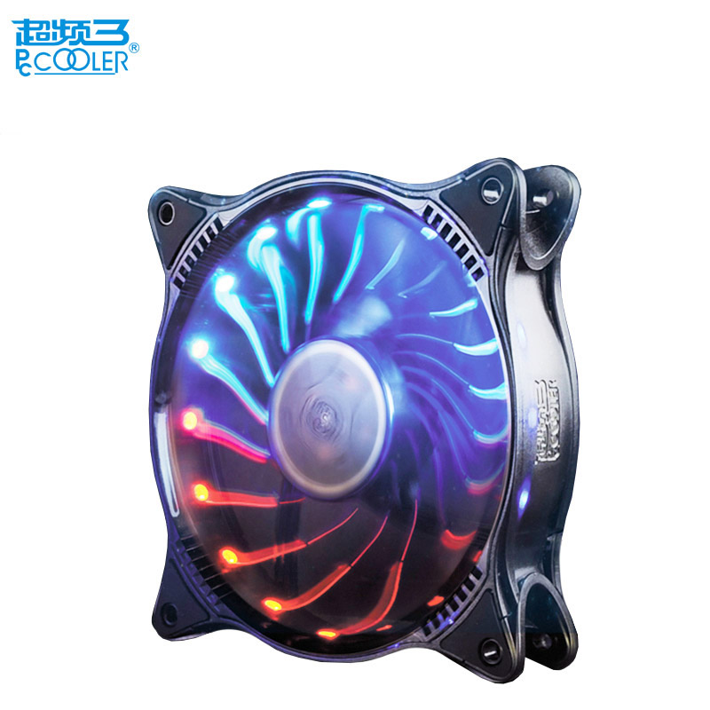 Pccooler fan rgb 12cm computer pc case cooling fan quite RGB magic adjustable LED 120mm CPU radiator Water cooler dust filter цена