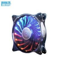 Pccooler fan rgb 12cm computer pc case cooling fan quite RGB magic adjustable LED 120mm CPU radiator Water cooler dust filter