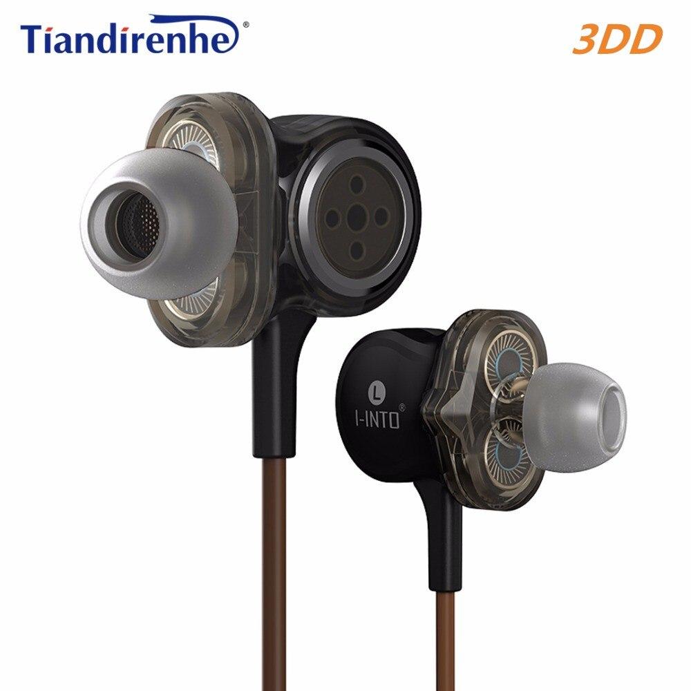 Tiandirenhe 3 Unit Drive I-INTO I8 Dynamic Earphone HIFI Stereo Bass DJ Muisc Sport Headset for iPhone xiaomi Android IOS PC MP3 tiandirenhe 14