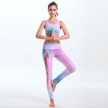 2018 Hot Sale Women Yoga Sets Exercise Bra + Leggings Set Fitness Legging Push Up Bras Tops Elastic Exercise Pants For Women