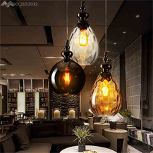 Pendant Lights Glass Vintage Led Light Retro Lamp Coffee Droplight Dinning Room Hanging Lamps Decoration