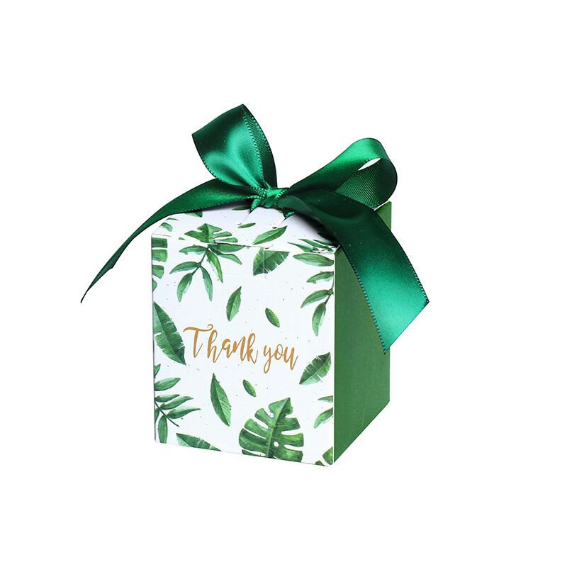 Sen Department Green Creative Square candy box wedding favor chocolate box party supplies box christmas gift box baby shower-4