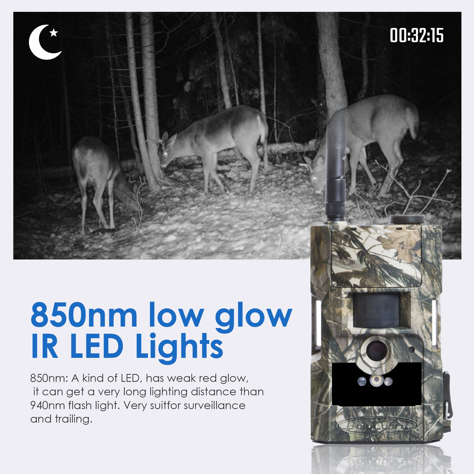 Image 3 - Bolyguard hunting trail camera 3G MMS SMS wildcamera 24M 1080PHD 90ft PIR night vision photo traps Scouting Camera fototrappola-in Hunting Cameras from Sports & Entertainment