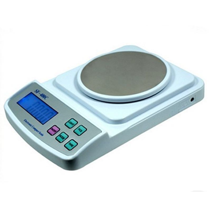 ФОТО New High precision electronic  gold jewelry Balance Scales SF -400C 500g/0.01g Kitchen Jewelry Weighing Scales Balance