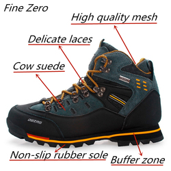 New Qualiity Waterproof Hiking Shoes Non-slip Wear Mountain Climbing Shoes Outdoor Hiking Boots Men Hunting Trekking Sneakers
