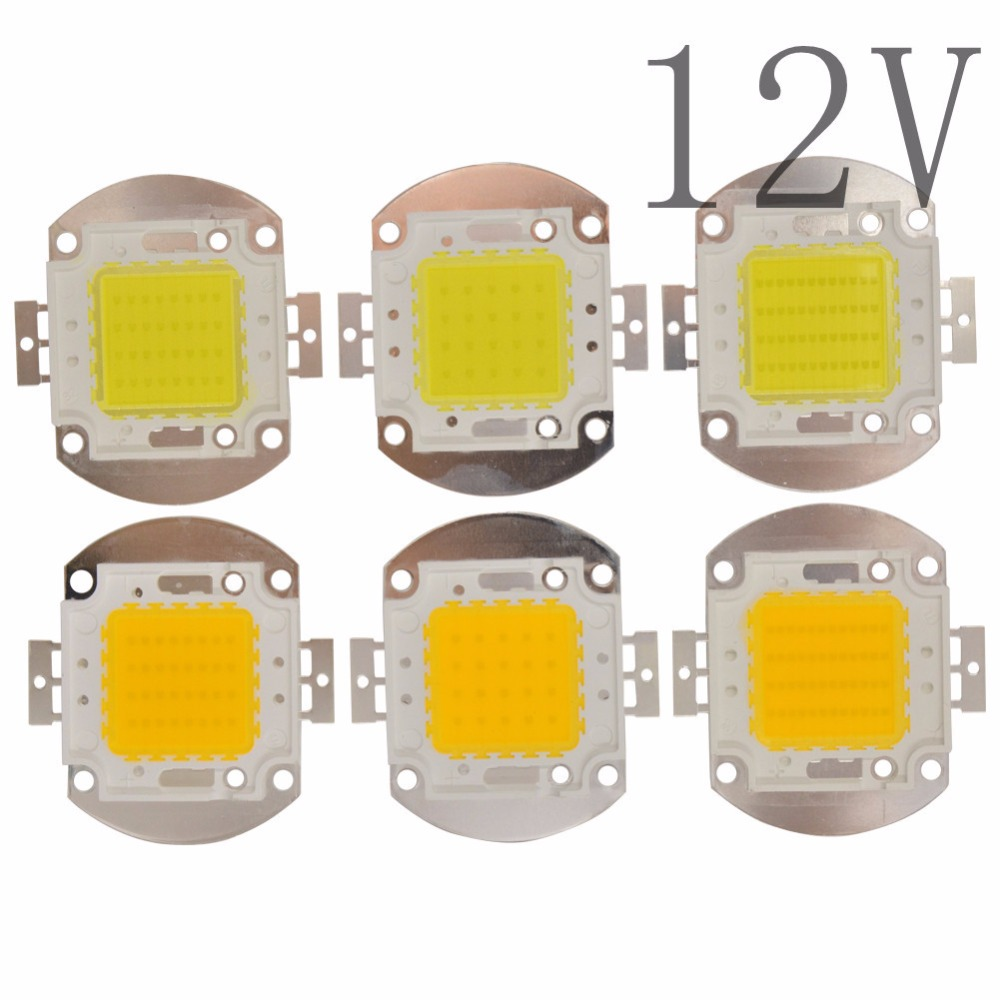High Power Epistar 12V LED chip 20W 30W 50W warm white/white no need driver for storage battery car,projector,car,motorcycle