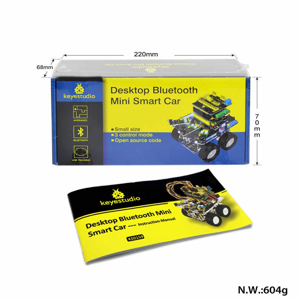 Keyestudio Настольный Bluetooth умный робот автомобильный комплект для Робот ардуино Программирование образования + 3 проекта + Руководство пользователя + PDF (онлайн)