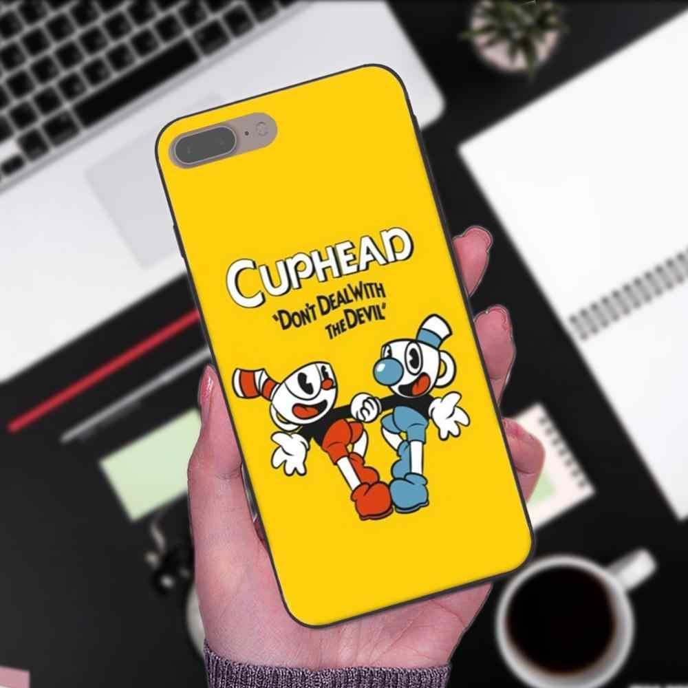 Чехлы мультфильм Hipster Cuphead игра Роскошные для Xiaomi mi x Max Note 2 2 S 3 5X6X8 9 SE A1 A2 Lite Play Pro F1