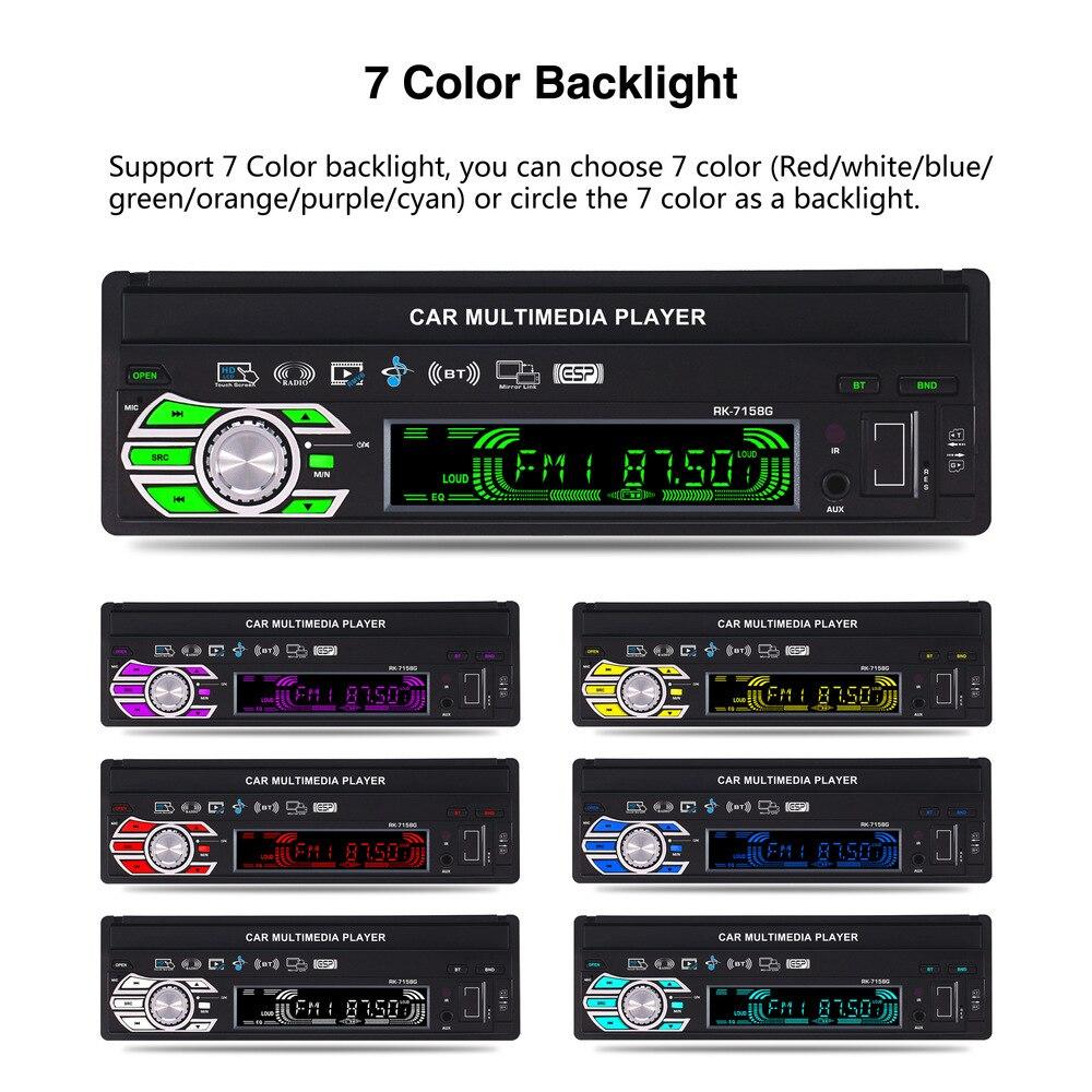 Auto 7 pouces autoradio Navigation GPS entièrement automatique voiture télescopique MP5 MP4 lecteur MP3 coloré lumières Machine affichage - 3