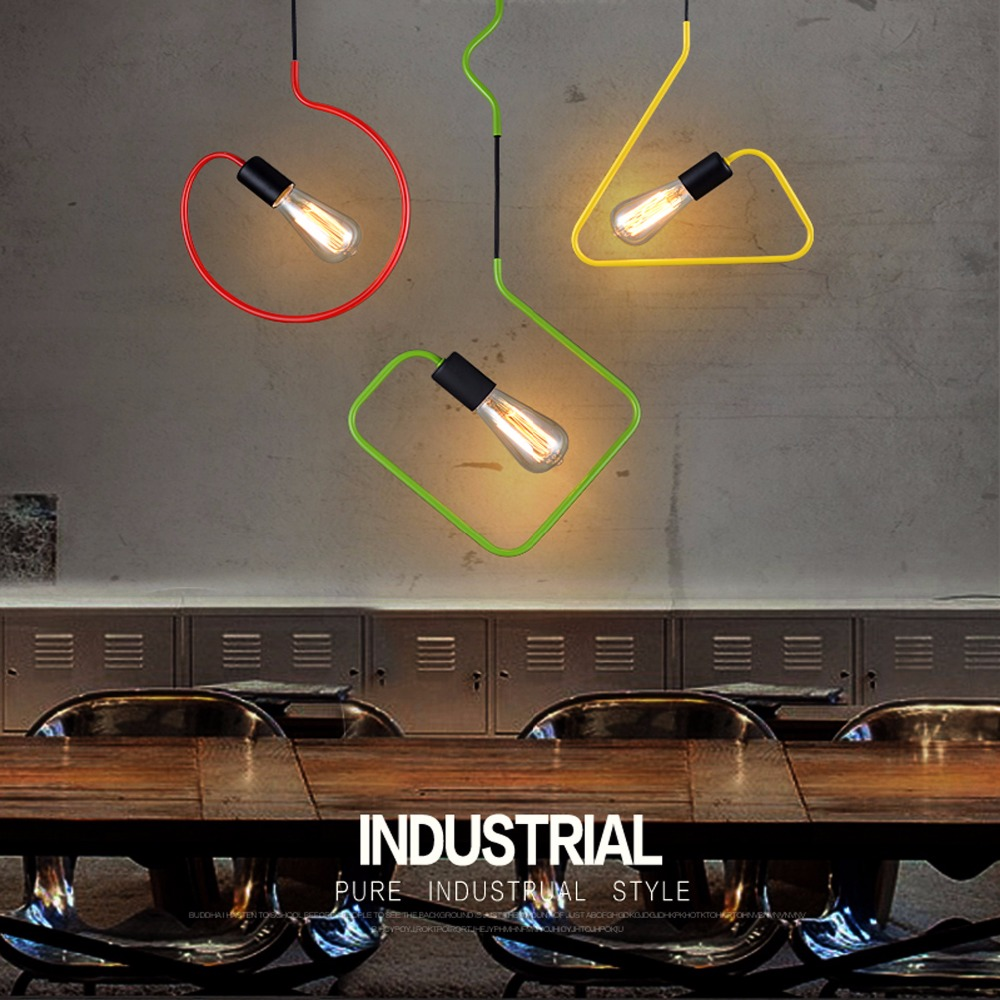 Pendant Lamp Dining Room Pendant Lamps Modern Colorful Restaurant Coffee Bedroom Pendant Lights Iron Material AC110V/220V E27 3 heads pendant lamps dining room glass pendant light living room lights bedroom pendant lamps iron lamp fg552