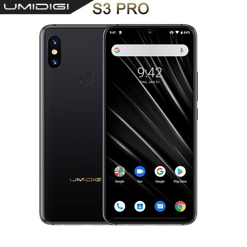 UMIDIGI S3 PRO Android 9.0 48MP+12MP+20MP 5150mAh 128GB 6GB 6.3 NFC Global Version Smartphone unlocked octa core mobile phone