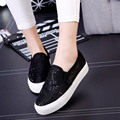 2016 summer low help han edition hollow out net yarn sequins canvas shoes casual shoes lazy students shoes slip-on loafers