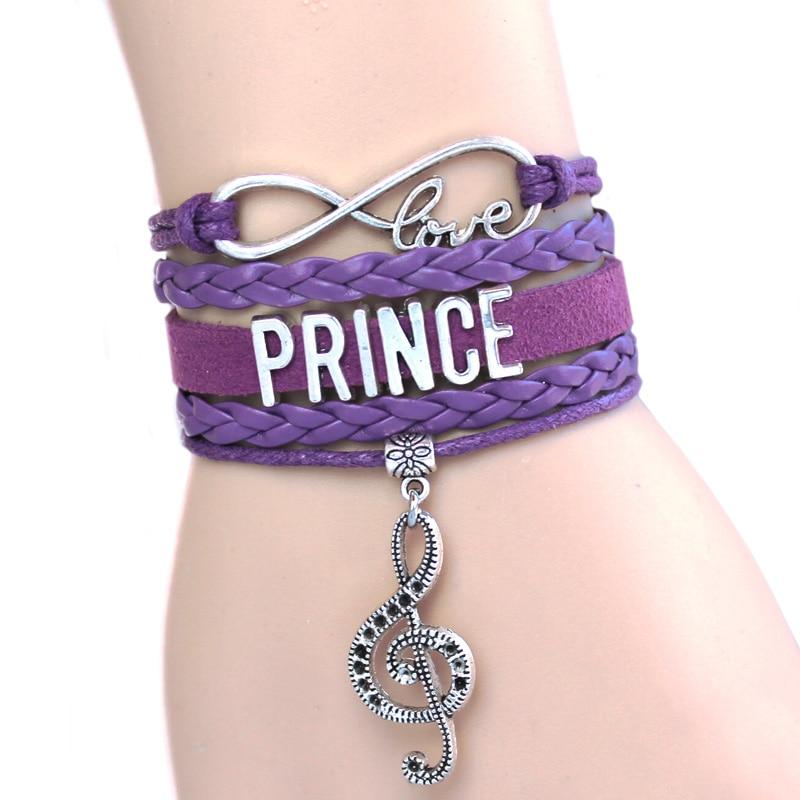 NEW ARRIVED Infinity Bracelet <font><b>Love</b></font> Prince Music Charm Bracelet Purple <font><b>Rain</b></font> Bracelet <font><b>The</b></font> Artist Bracelet High Quality Custom