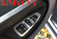 BJMYCYY car accessories The car door handrail decorative panel plate Car stying For BMW X1 F48 2015 2016