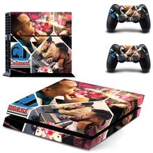 Vinyl Decal Protective Skin Cover Sticker for Sony PS4 Console And 2 Dualshock Controllers
