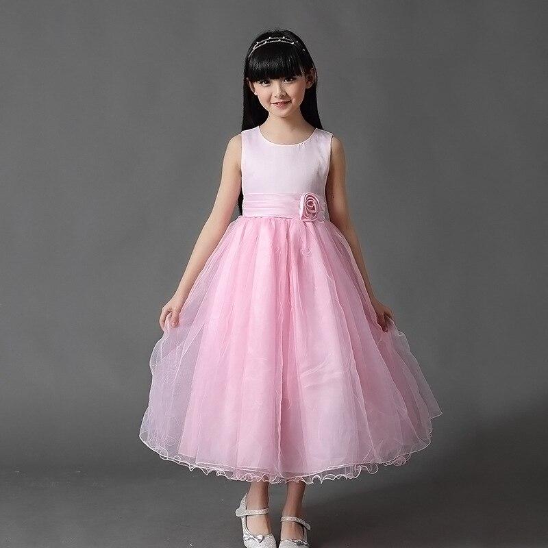 купить Fashion Ball Gowns for Children Light Blue Wedding Dresses for A 12 Year Ball Gown Dresses Size Ten for Little Girls Kids недорого