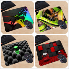 Best Quality Customized Mouse Pad 3D View Abstract Multicolor Waves Computer Notebook Durable Non-slip Rubber Mouse Mat Pad