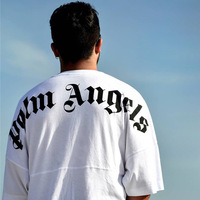 Hip Hop Palm Angels T Shirts Streetwear letter Printing Painting Palm Angels T shirts 19SS New Summer Fashion Palm Angels Tees