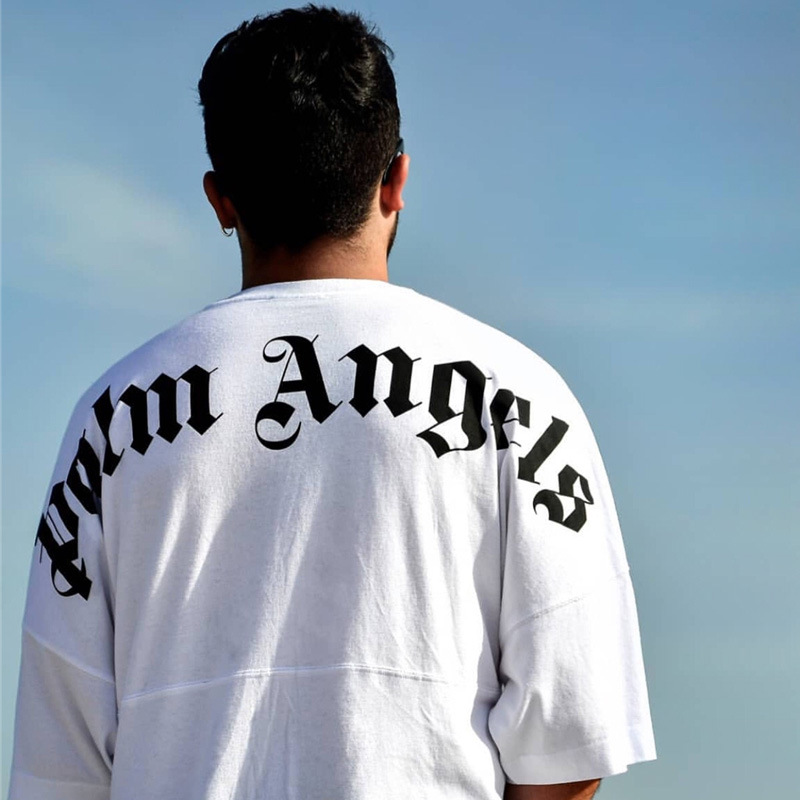 Hip Hop Palm Angels T Shirts Streetwear Letter Printing Painting Palm Angels T-shirts 19SS New Summer Fashion Palm Angels Tees