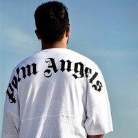 Hip Hop Palm Angels T Shirts Streetwear letter Printing Painting Palm Angels T shirts 19SS New Summer Fashion Palm Angels Tees