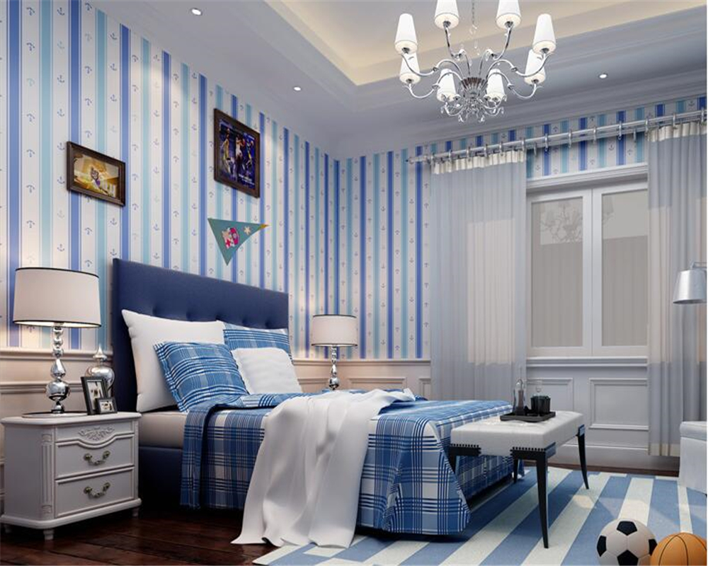 beibehang Korean personality children room girl boy striped wallpaper princess room non-woven papel de parede 3d wallpaper wall paper papel de parede 3d wallpaper pune romantic ballet girl princess room bedroom wallpaper non woven wallpaper children