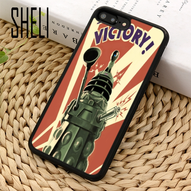 Fitted Cases Genteel Sheli Doctor Who Dalek Exterminate Phone Case Cover For Iphone 6 6s 7 8 Plus X Xr Xs Maxs Se Samsung Galaxy S7 Edge S8 S9 Plus