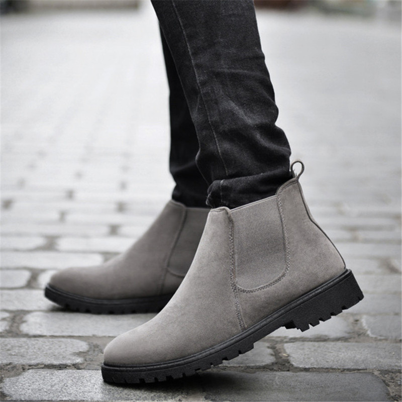 ZOQI Cow Suede Chelsea Boots Men Sneakers High Quality Ankle Boots Men Shoes Leather Winter Boots Men Work Shoes Zapatos HombreZOQI Cow Suede Chelsea Boots Men Sneakers High Quality Ankle Boots Men Shoes Leather Winter Boots Men Work Shoes Zapatos Hombre