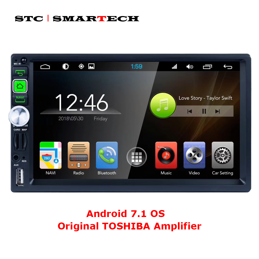 SMARTECH 2 Din Android 7.1 Car Radio GPS Navigation System Car MP4 MP5 Player 7 inch HD screen Quad Core 1GB RAM 16GB ROM android 6 0 car stereo quad core 2 din 7 inch hd touch screen auto radio am fm rds 1 2ghz 1gb ram 16gb rom rear view camera bt