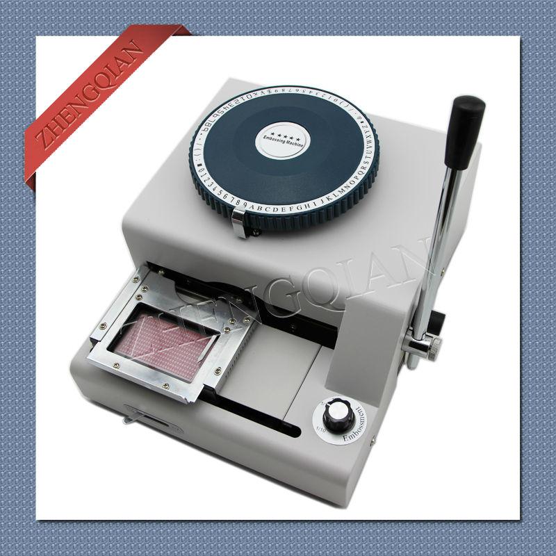 72 Character memmber pvc card codes making machine WSDM 72C model manual code printer
