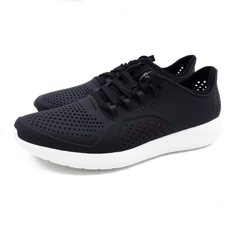 CROCS Summer Breathable Men Shoes Beach Sneakers walking shoes Slip-om Barefoot and blacklace-up shoesCROCS Summer Breathable Men Shoes Beach Sneakers walking shoes Slip-om Barefoot and blacklace-up shoes