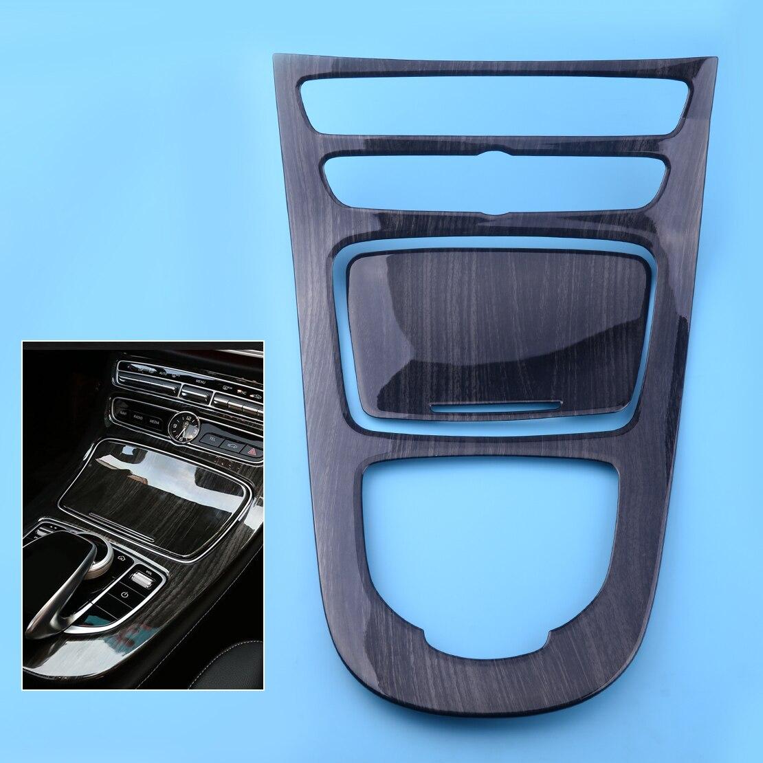 DWCX 2Pcs ABS Wood Car Grain Console Gear Panel Cover Frame Trim Fit for Mercedes Benz E-Class W213 2016 2017 lapetus accessories for mercedes benz e class e class w213 2016 2018 abs gear box shift panel cover trim carbon fiber style