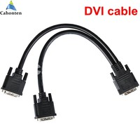 DVI One To Two Splitter Cable Male To Male For Linsn Full Color TS802 Sending Card