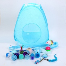 Cat Toys Set Combination Toy Kitten Interactive Play Supplies Bell Feather Mice Shape Ball Cat Toys Kit