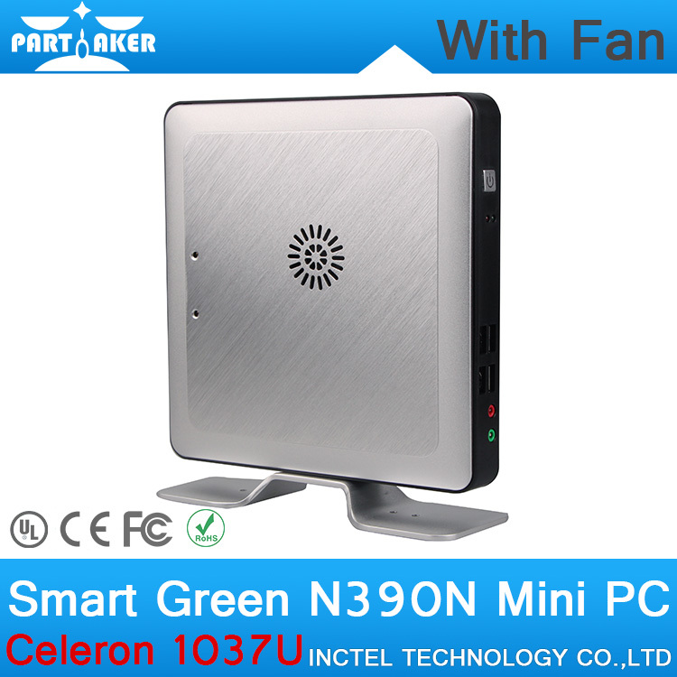 4G RAM OEM Mini Desktop PC with Fan Intel Celeron 1037U CPU Dual Core Linux Embedded Computer Parts 2g ram mini pc with fan intel celeron 1037u cpu dual core linux embedded computer with rj45