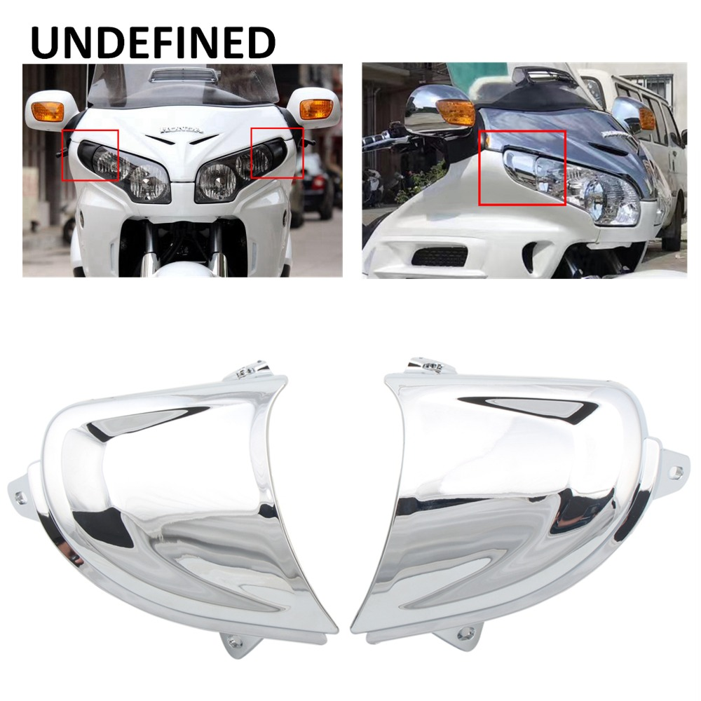 Motorcycle Headlight Cover Trim Front Fairing Trim For <font><b>Honda</b></font> Goldwing <font><b>Gold</b></font> <font><b>Wing</b></font> GL1800 <font><b>GL</b></font> <font><b>1800</b></font> 2006-2014 2013 2012 UNDEFINED image