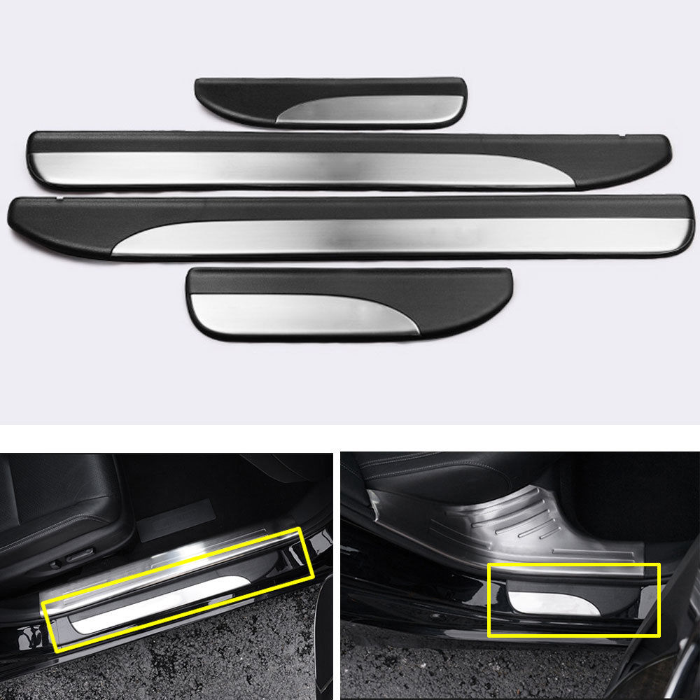 Stainless Steel Inner Door Sill Scuff Plate Cover Fit For Honda Accord 2014-2017