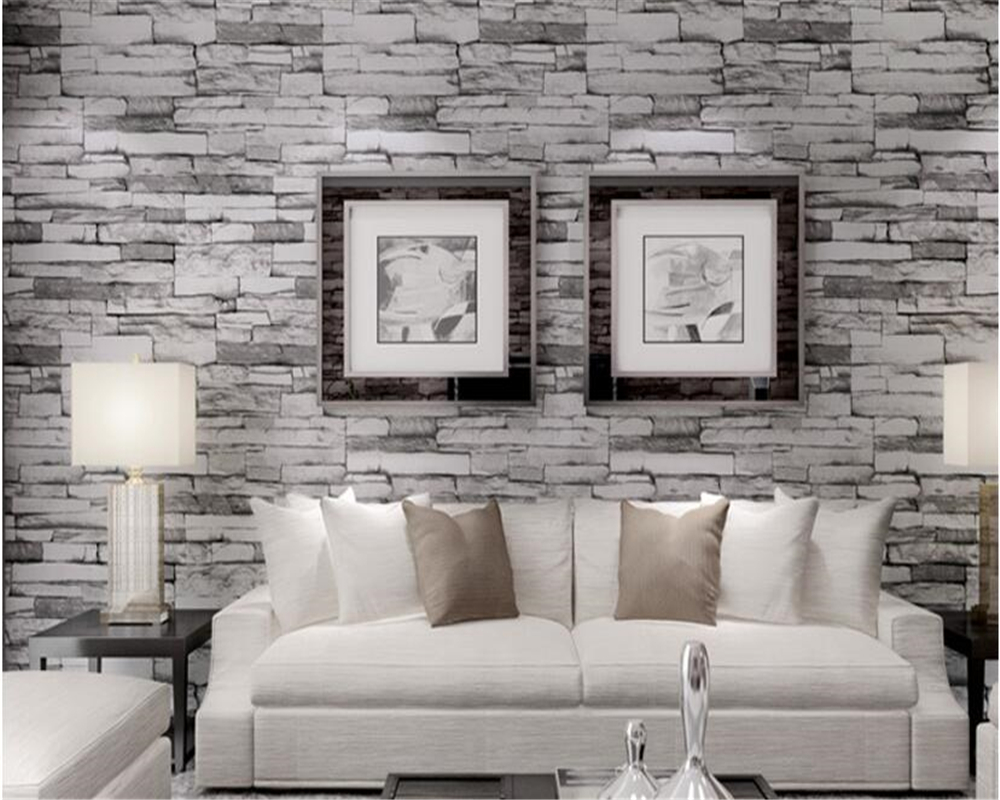 beibehang Brick Wallpaper Chinese Stone Waterproof Pvc Wallpaper Hotel Store Living Room Background Wall paper papel de parede