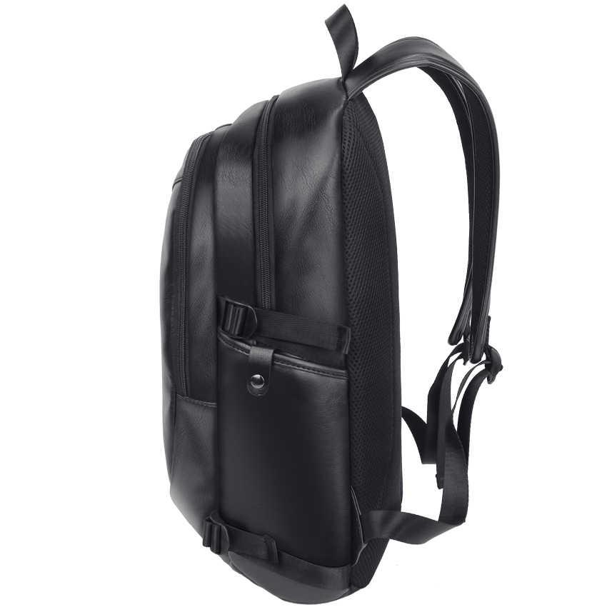 Vormor multifunction men backpack moda à prova dwaterproof água plutônio couro mochila masculino bolsa de viagem casual saco de escola para mulher
