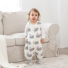 Детская сумка для сна; осенне-зимний детский комбинезон; Хлопковое одеяло с рисунком животных для младенцев; детские пижамы; цельнокроеное одеяло для новорожденных
