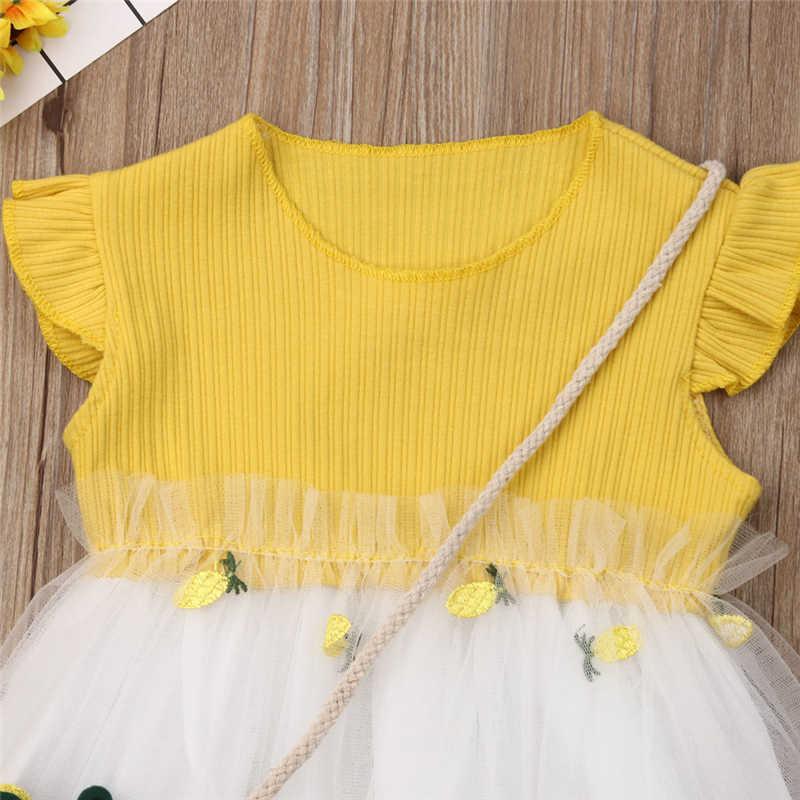 2019 verano niño chico chica de vestido de tul Tutu vestido de princesa vestido + pequeño Lnclined bolso de hombro
