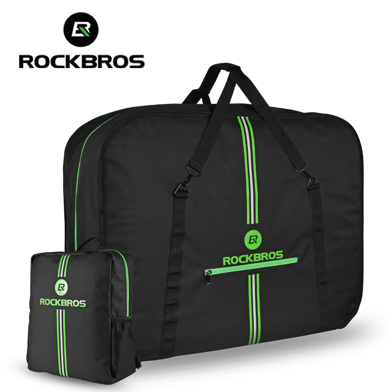ROCKBROS Folding Bicycle Carrier Bag Rainproof MTB Road Bike Carry Bag With Storage Bag Easy Carry Bicycle Accessories Pannier rockbros large capacity bicycle camera bag rainproof cycling mtb mountain road bike rear seat travel rack bag bag accessories