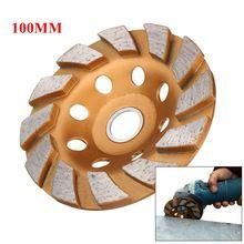 100mm/4inch 8 Holes HGS Segment Grinding Wheel Diamond Grind Cup Disc Concrete Granite Stone Grinder DIY Power Tool