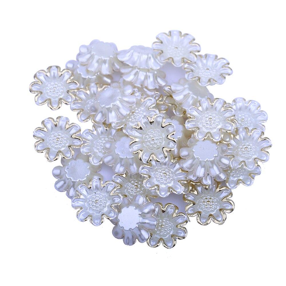 60 шт./лот Модные украшения Интимные аксессуары ABS смолы крупные цветы половина Бусины для изготовления ювелирных изделий Аксессуары