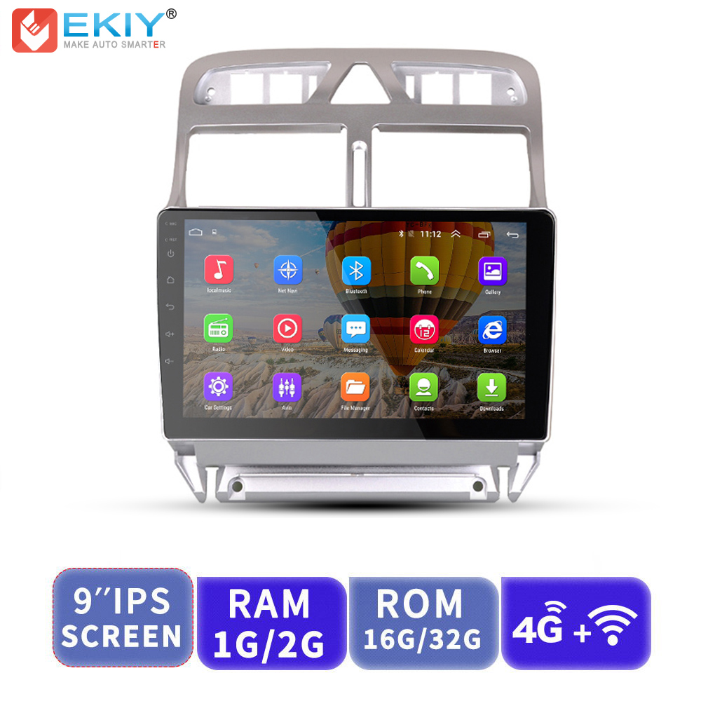 EKIY 9 IPS 2.5D Car Multimedia Player Android AutoRadio Audio Stereo Per Peugeot 307 2004-2013 Con 4G Modem GPS di NavigazioneEKIY 9 IPS 2.5D Car Multimedia Player Android AutoRadio Audio Stereo Per Peugeot 307 2004-2013 Con 4G Modem GPS di Navigazione